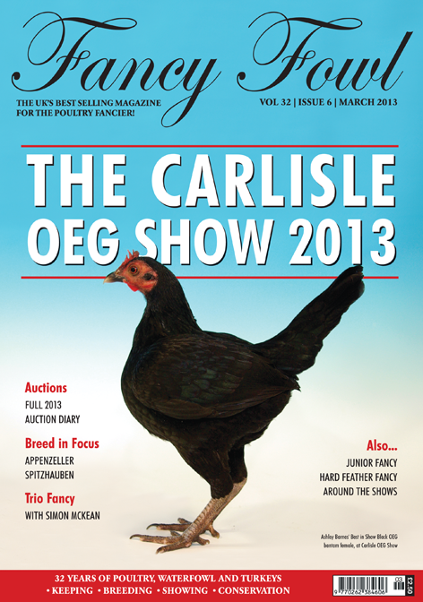 Fancy Fowl Poultry Magazine March - Carlisle Old English Game, Appenzeller, Sebastopol Geese, OEG