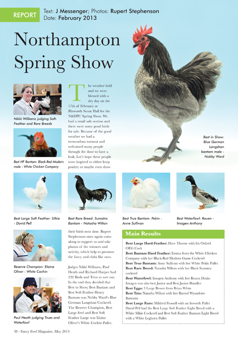 Fancy fowl poultry waterfowl amp turkey magazine may 2013