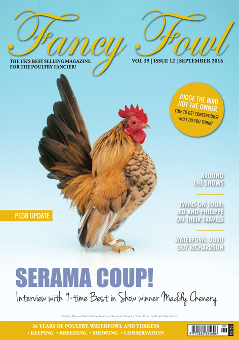 Fancy Fowl Poultry Magazine September